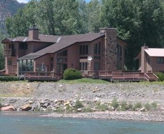 Private river estate in Durango Colorado with 10 acres. Enjoy 7 bedrooms and 7 baths in this amazing home. Close to Skiing at Durango Mountain Resort and Golf at Dalton Ranch golf club.